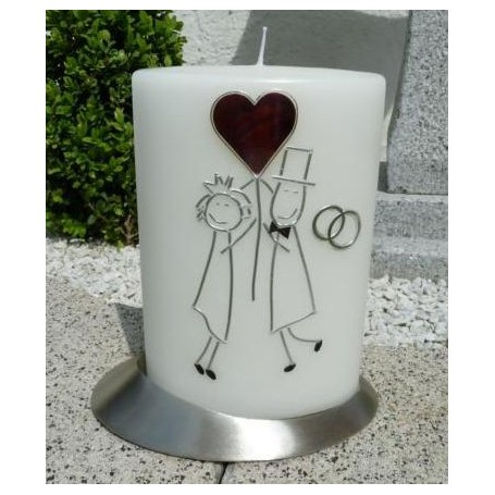 Hochzeitskerze Ovalform Hochzeitspaar