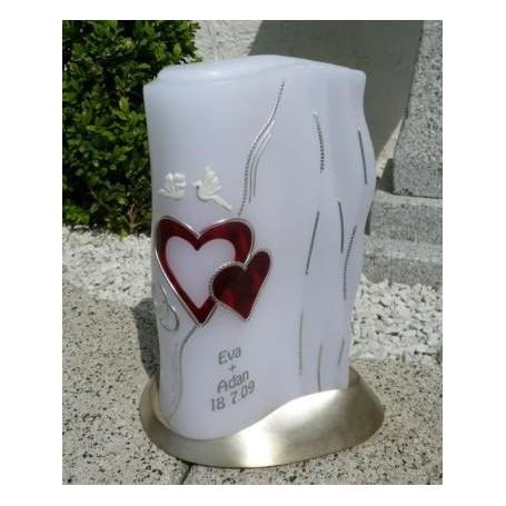 Hochzeitskerze Flügel handgegossen